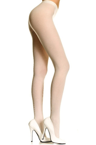Opaque Tights - White