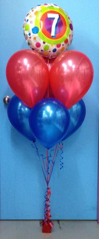 7 Foil & 6 Metallic Balloon Arrangement - Stacked