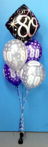 80 Foil & 4 Print Balloon Arrangement - Stacked