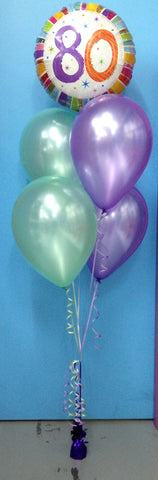 80 Foil & 4 Metallic Balloon Arrangement - Stacked