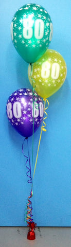 3 x Print Balloon Arrangement - Staggered