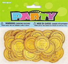 Gold Plastic Coins (30 pack)