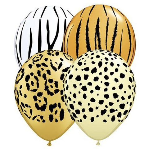 5 Inch Assorted Safari Qualatex Latex Balloons - (8 pack)