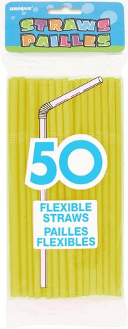Flexi Straws - Sun Yellow (50 pack)