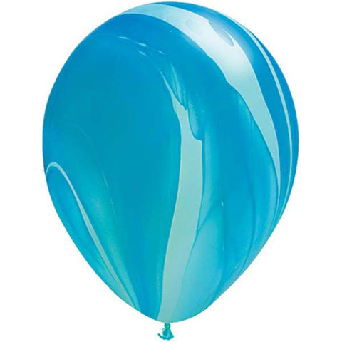 Agate Rainbow Latex Balloons - Blue (1 unit)