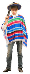 Mexican Poncho - Multi Colour - Adult