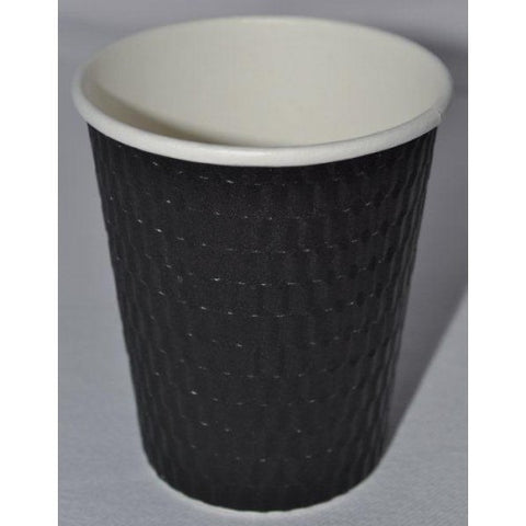 8oz Beta Grip Hot Cups - Black (25 pack)