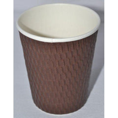 8oz Beta Grip Hot Cups - Brown (25 pack)