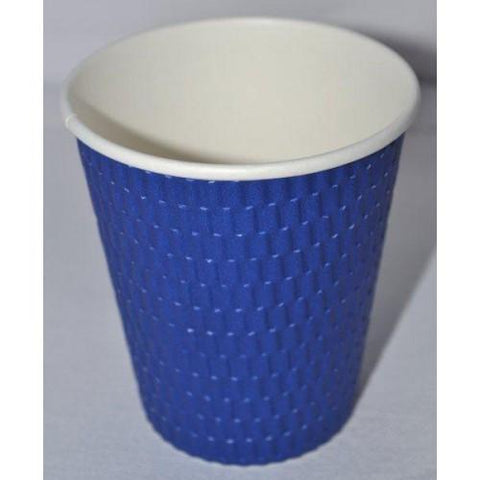 12oz Beta Grip Hot Cups - Blue (25 pack)