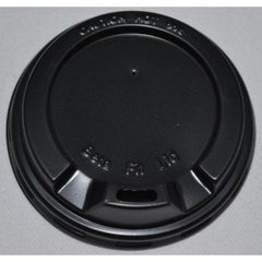 12oz Beta Grip Hot Cup Lids - Black (50 pack)