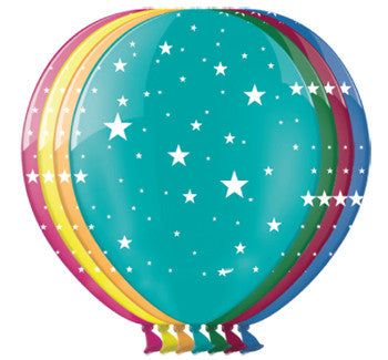 Helium Quality Printed Stars Balloons