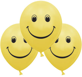 Helium Quality Printed Smiley Balloons