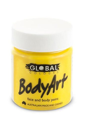 Body Art Face Paint - Yellow - 45ml