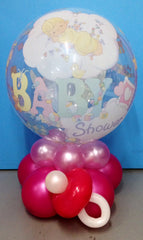 Baby Shower Bubble Centre Piece - Pink
