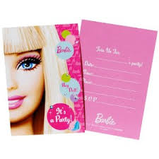 Barbie Party Invitations (8 pack)