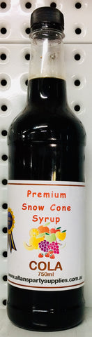 Snow Cone Syrup - Cola 750ml
