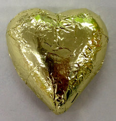Milk Chocolate Hearts - Gold - 500g (60)