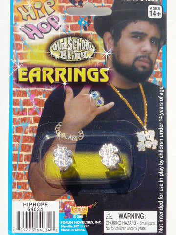 Hip Hop $ Sign Earings