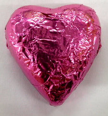 Milk Chocolate Hearts - Hot Pink - 500g (60)