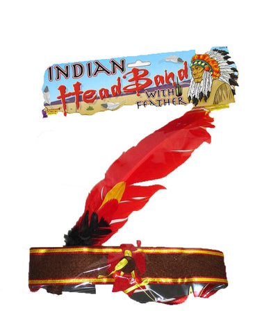 Native American Headband With Feather