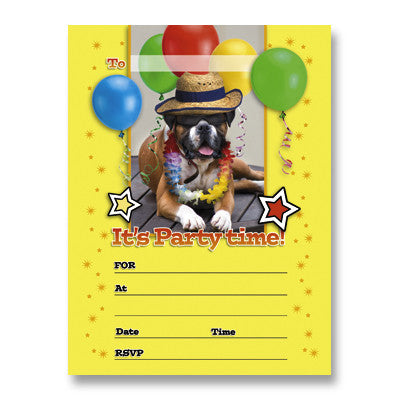 Invitation Packs - Party Dog