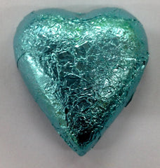 Milk Chocolate Hearts - Ice Blue - 500g (60)