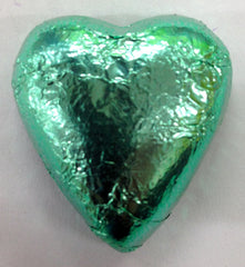 Milk Chocolate Hearts - Ice Green - 500g (60)