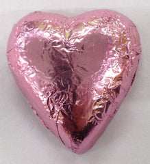 Milk Chocolate Hearts - Ice Pink - 500g (60)