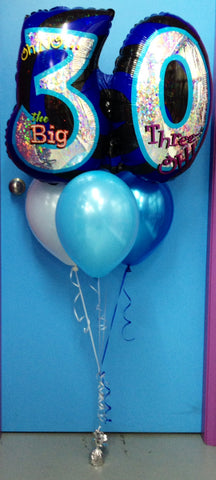Jumbo 30 Foil & 3 Metallic Balloon Arrangement - Stacked