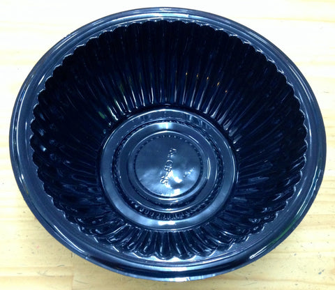 Black Plastic Salad Bowl - Large