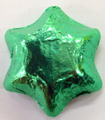 Milk Chocolate Stars - Light Green - 500g (~60)