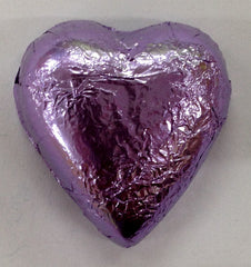 Milk Chocolate Hearts - Lilac - 500g (60)
