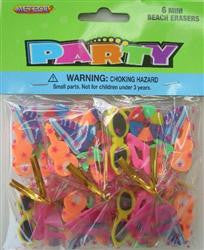 Mini Beach Erasers (6 pack)