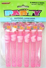 Bubbles & Wands 6 pack - Pink