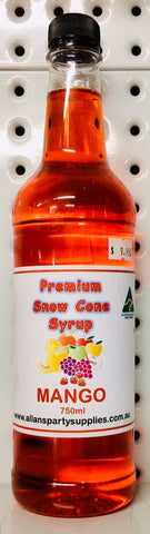 Snow Cone Syrup - Mango 750ml
