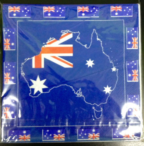 Aussie Map Napkins (20 pack)