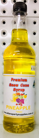 Snow Cone Syrup - Pineapple 750ml