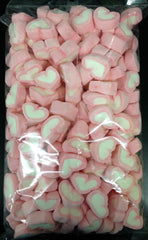 Marshmallows Hearts - Pink - 750g