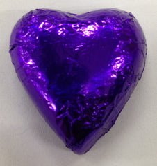 Milk Chocolate Hearts - Purple - 500g (60)