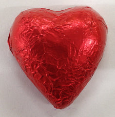 Milk Chocolate Hearts - Red - 500g (60)