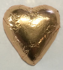 Milk Chocolate Hearts - Rose Gold - 500g (60)