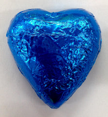 Milk Chocolate Hearts - Royal Blue - 500g (60)