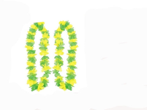 Aussie Yellow & Green Lei - (2 pack)