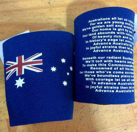 Aussie Anthem Stubby Holder