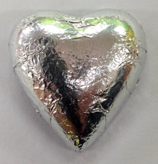 Milk Chocolate Hearts - Silver - 500g (60)