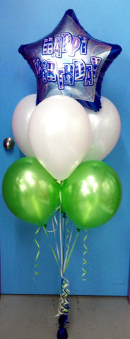 1 Foil & 6 Metallic Balloon Arrangement - Stacked