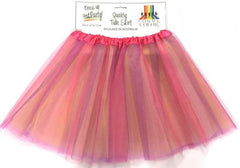 Adult Tulle Tutu/Skirt - Pink Rainbow