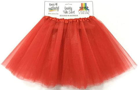 Adult Tulle Tutu/Skirt - Red