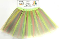 Adult Tulle Tutu/Skirt - Green Rainbow