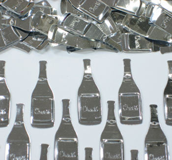 Table Scatters Champagne Bottles - Silver